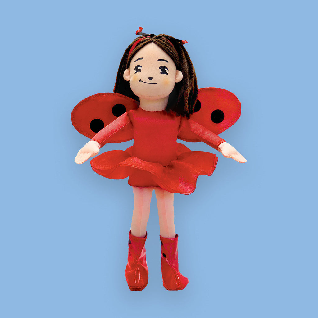 "MerryMakers 10"" Ladybug Girl Doll, based on the book by David Soman and Jacky Davis"