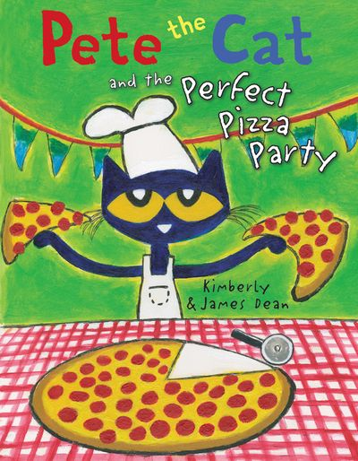 "MerryMakers 14.5"" Pete the Cat Pizza Party Doll and book set, based on the bestselling books by James Dean"