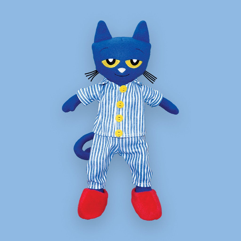 "MerryMakers 14.5"" Pete the Cat Bedtime Blues Doll, based on the book by James Dean"