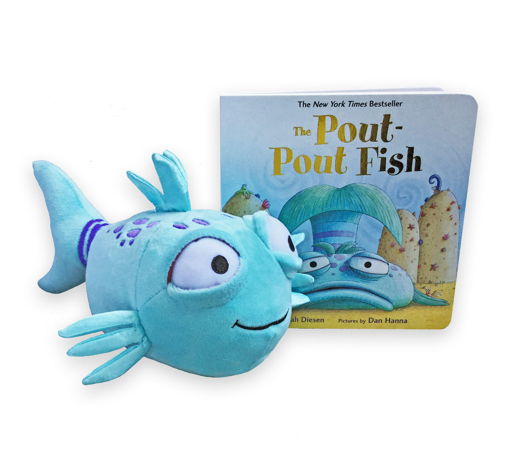 "MerryMakers 9"" The Pout-Pout Fish Doll and Book Gift Set from Deborah Diesen"