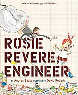 "MerryMakers 11"" Rosie Revere, Engineer Doll and book set, based on the book by Andrea Beaty"