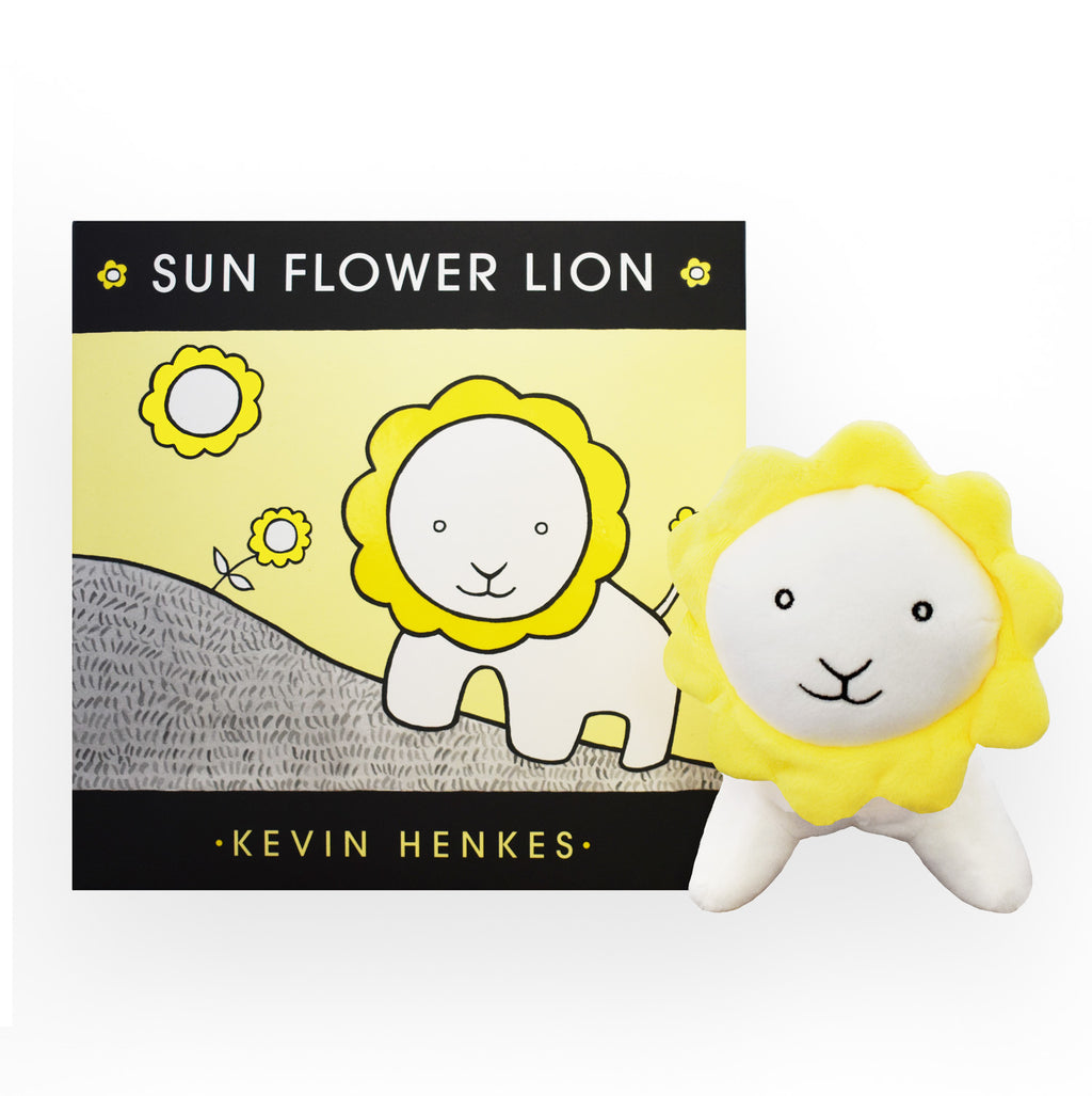 "MerryMakers 7"" Sun Flower Lion Doll and book gift set based on the book by Kevin Henkes"