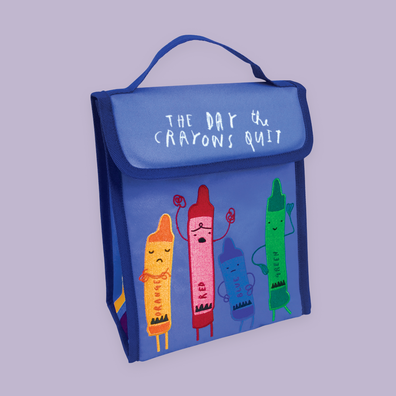 "MerryMakers 10"" x 8.5"" x 5"" The Day the Crayons Quit Lunch Bag, based on the books by Drew Daywalt and Oliver Jeffers"