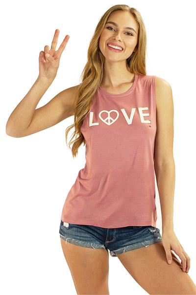 PEACE AND LOVE MUSCLE TANK