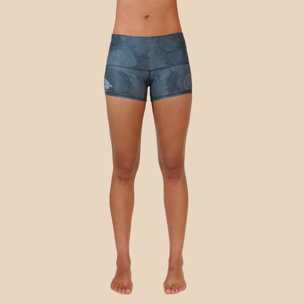 Dreamcatcher yoga shorts from recycled plastic bottles