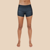 Aztec yoga shorts from recycled plastic bottles