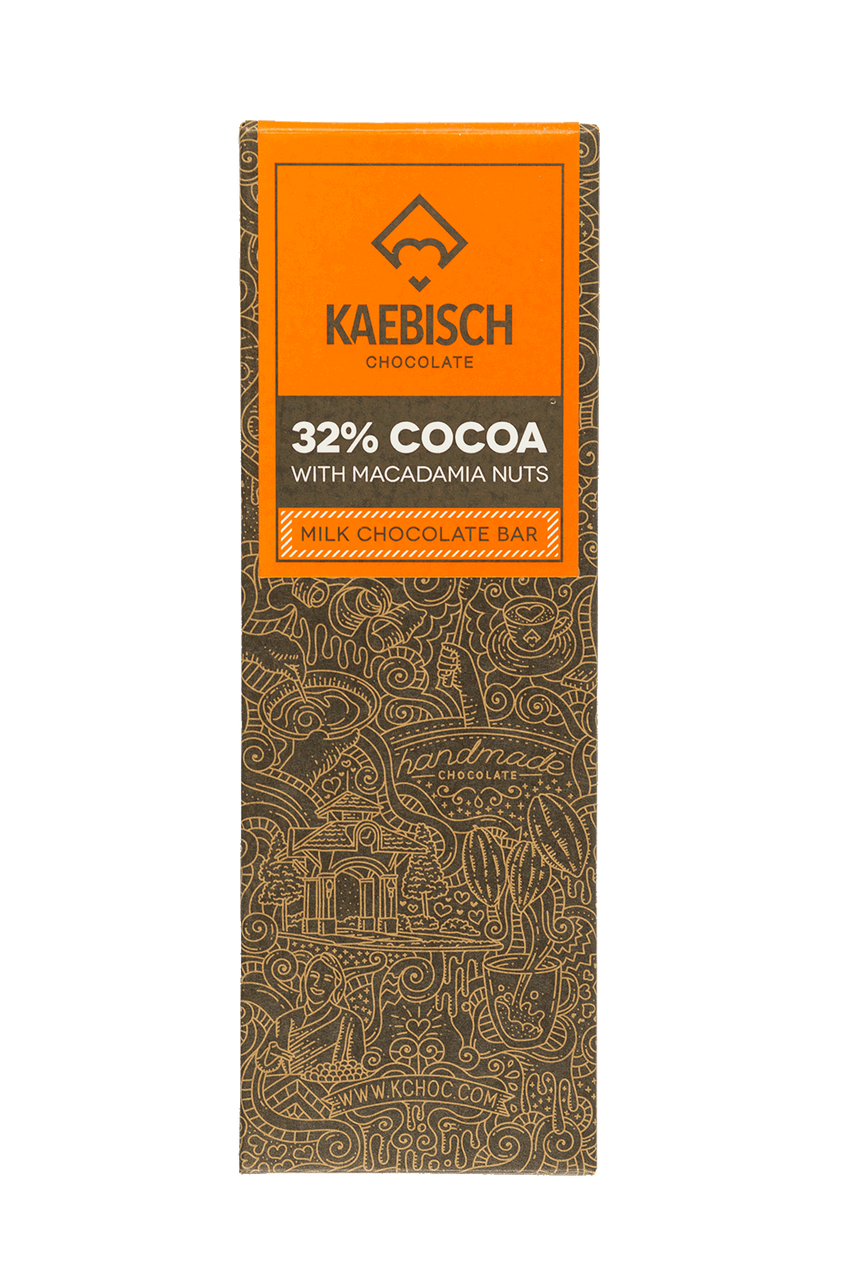Kaebisch 32% Cocoa with Macadamia Nuts Chocolate Bar