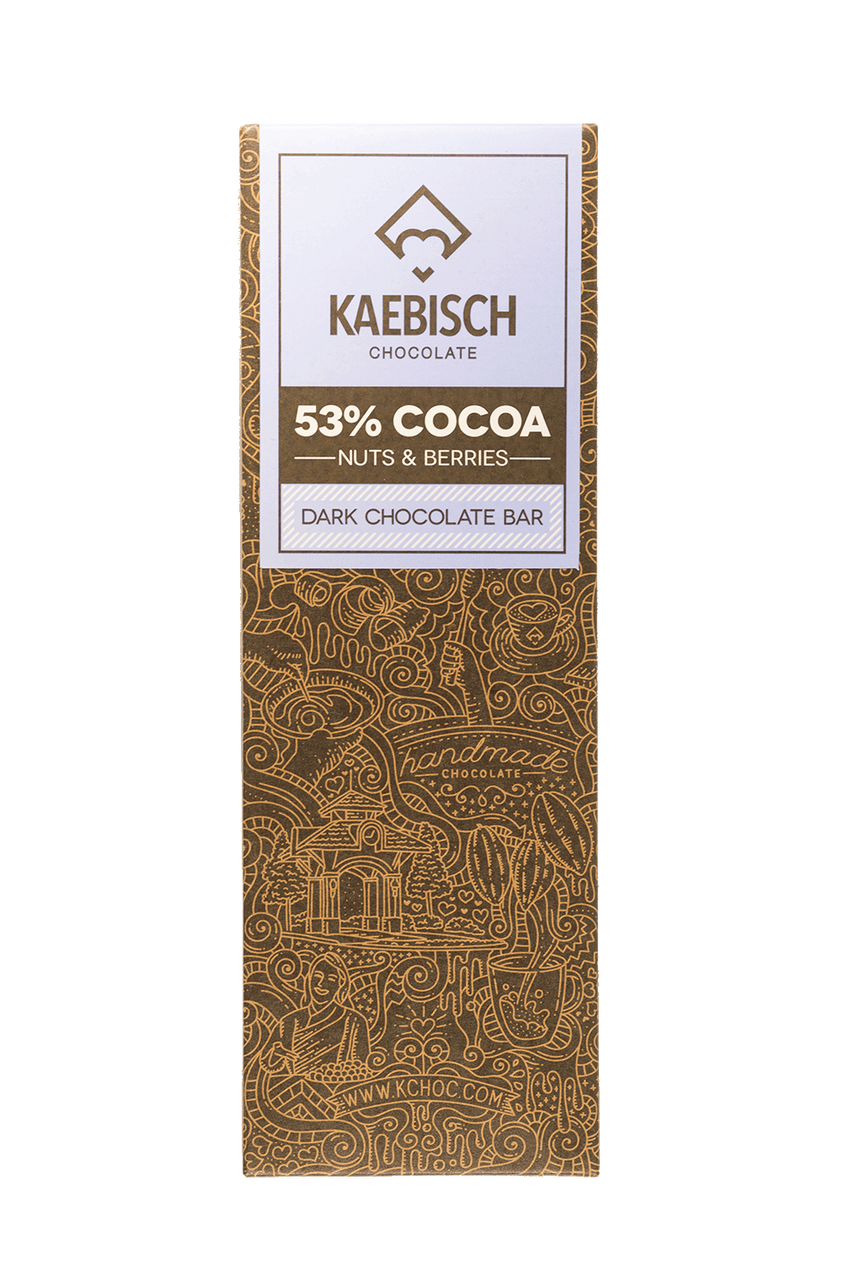 Kaebisch 53% Cocoa with Nuts & Berries Chocolate Bar