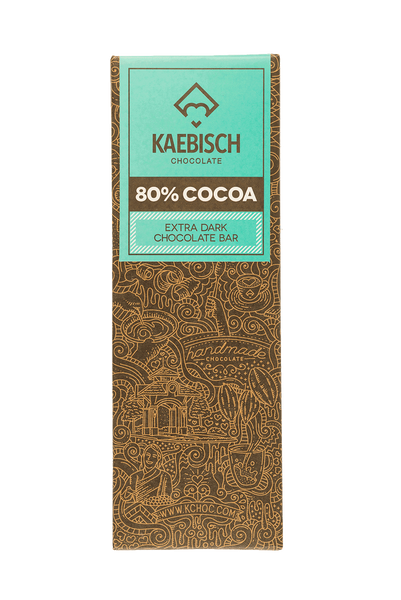Kaebisch 80% Cocoa Chocolate Bar