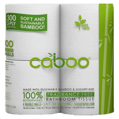 Caboo 2 ply Toilet Paper (4 Pack)