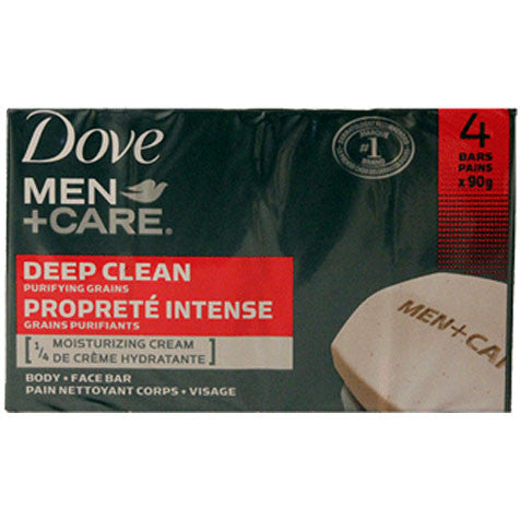Dove Men+Care Deep Clean Body and Face Bar (4 pack)
