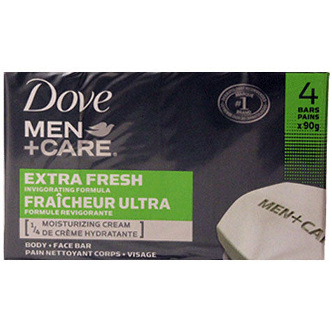 Dove Men+Care Extra Fresh Body and Face Bar (4 pack)