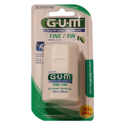 GUM Fine Waxed Mint Floss (183 m)