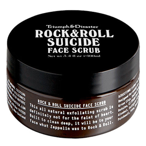 Triumph and Disaster Rock & Roll Suicide Exfoliating Face Scrub Jar