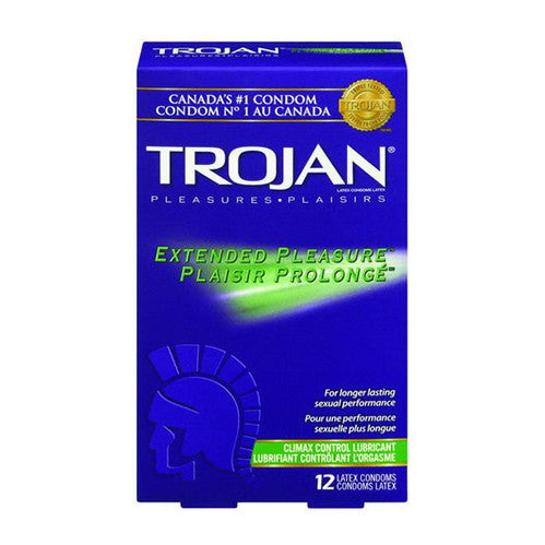 TROJAN Extended Pleasure with Climax Control Lubricant (12 Pack)