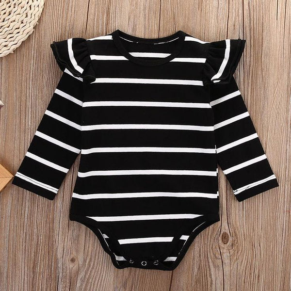 Everly Striped Ling Sleeve Romper