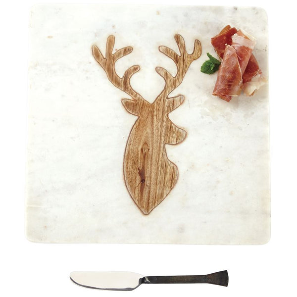 Marble & Wood Deer Board Set