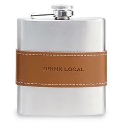 Leather Band Flask