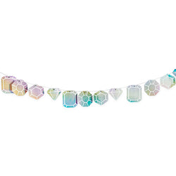 Iridescent Gemstone Garland
