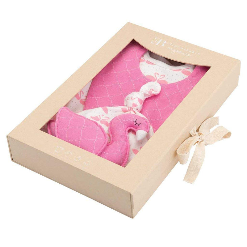 Pink Flamingo Organic Cotton Layette Set