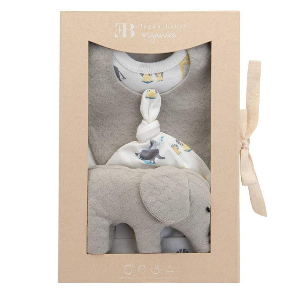 Grey Elephant Organic Cotton Layette Set