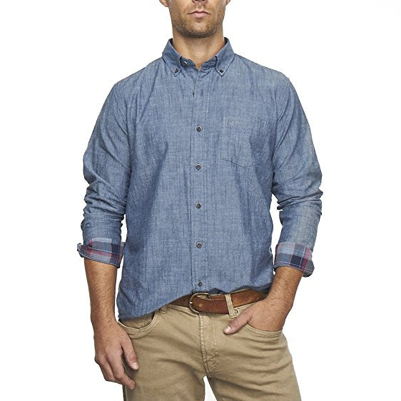 Men's Long Sleeve Chambray Shirt