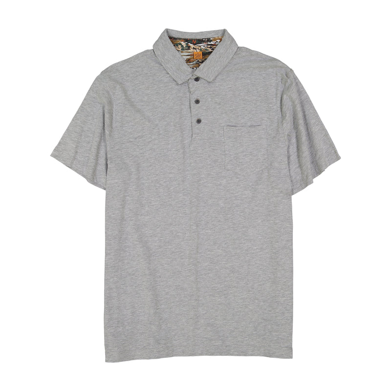 Heather Grey Polo Tee