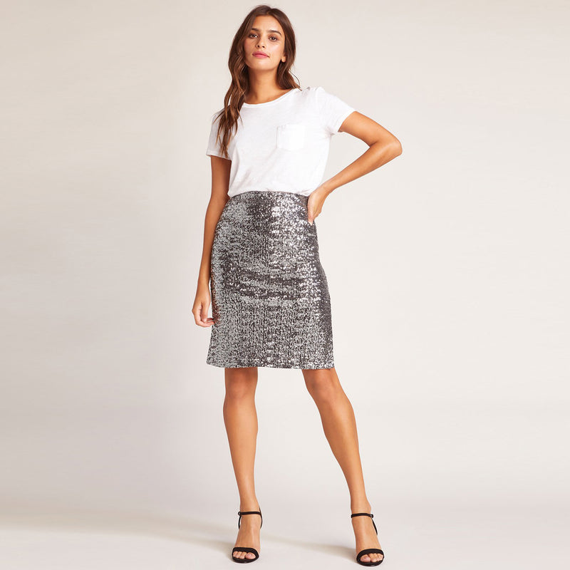 All Night Silver Skirt