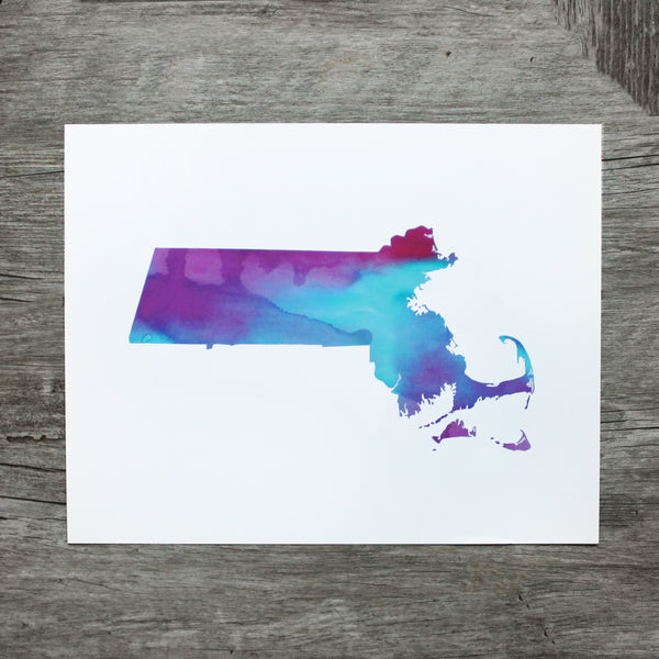 Purple Mass Watercolor Print