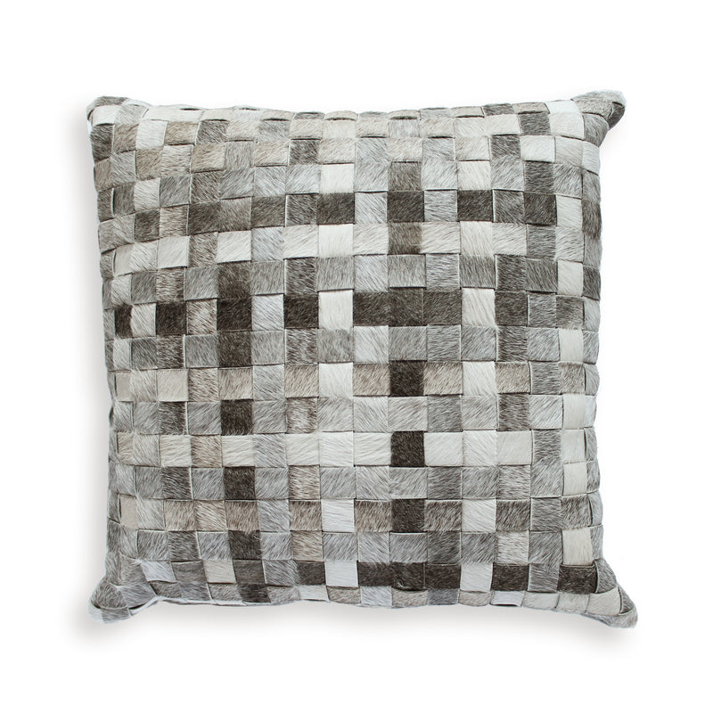 Grey Basket Weave Pillow