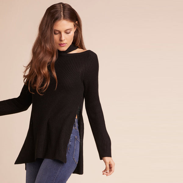 Dusk Till Down Black Sweater