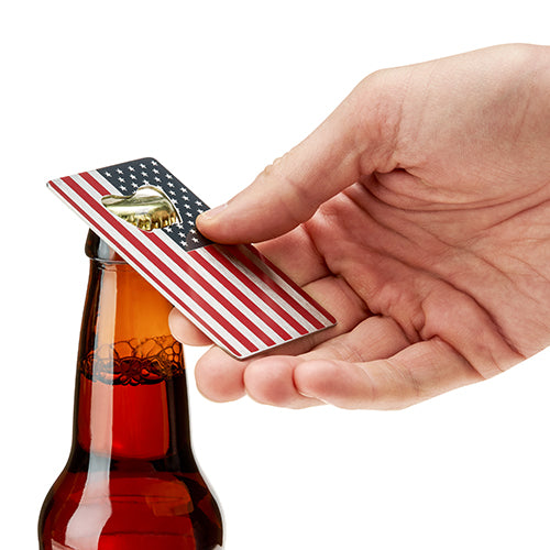 USA Flag Metal Bottle Opener