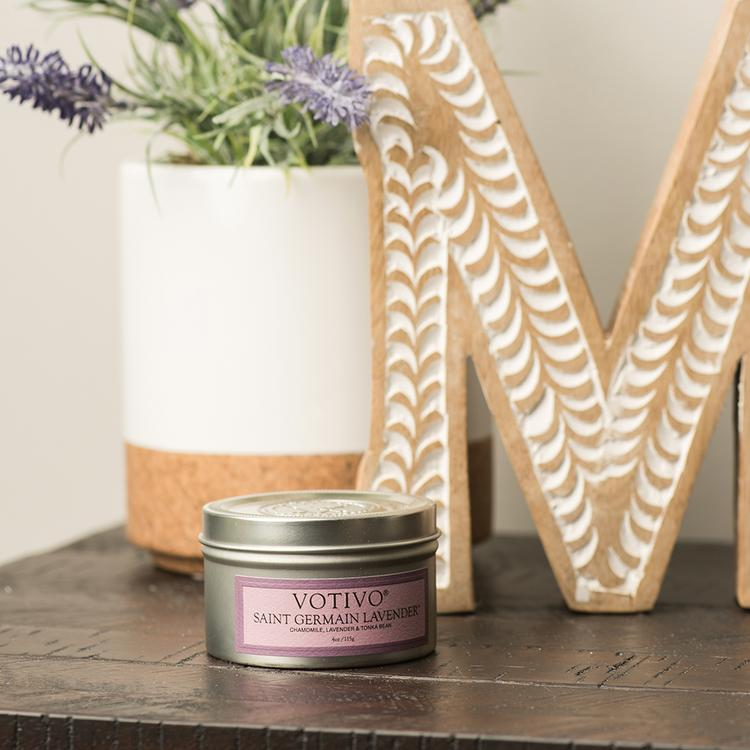 Votivo Travel Tin St. Germain & Lavender Candle