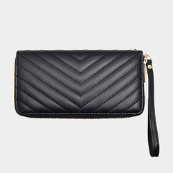 Black Quilted Leather Wallet