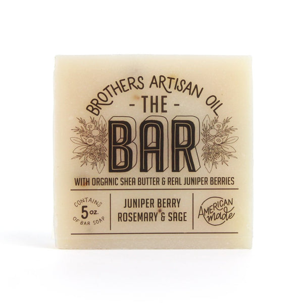 Brother's Artisian Men's Soap Juniper Berry, Rosemary & Sage