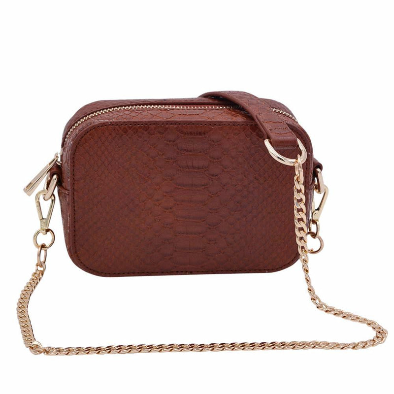 Cognac Boa Bag