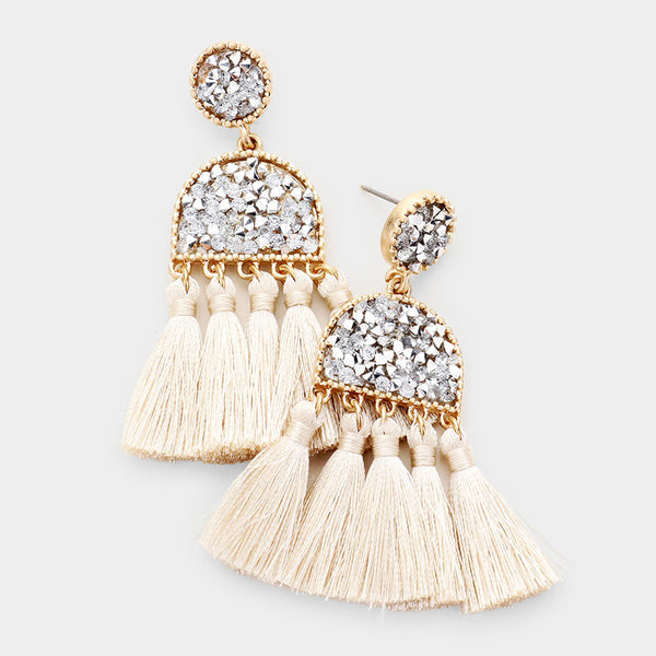 Sparkle Tassel Earrings