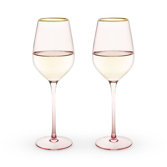 Rose Gold Wine Glasses (2)