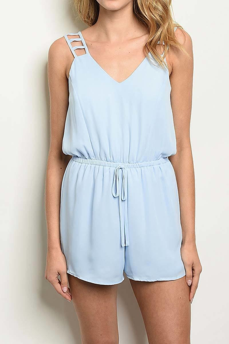 Cutout Detail Back Romper