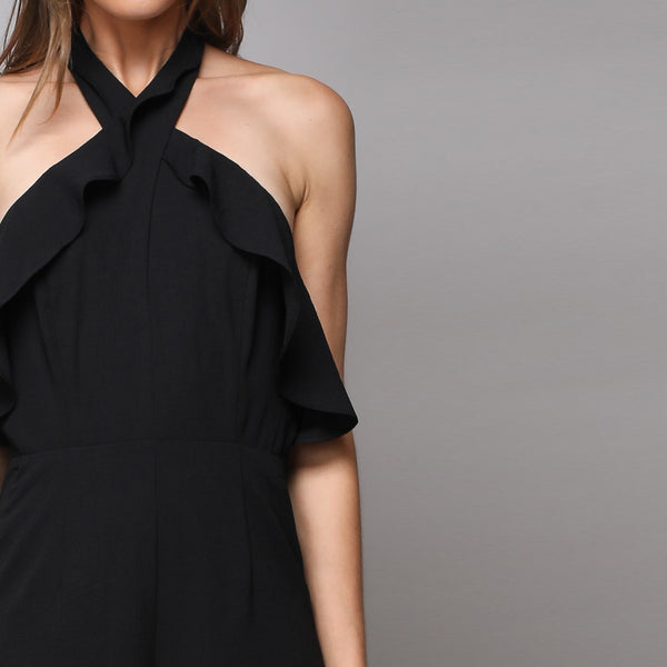 Black Open Back Jumpsuit