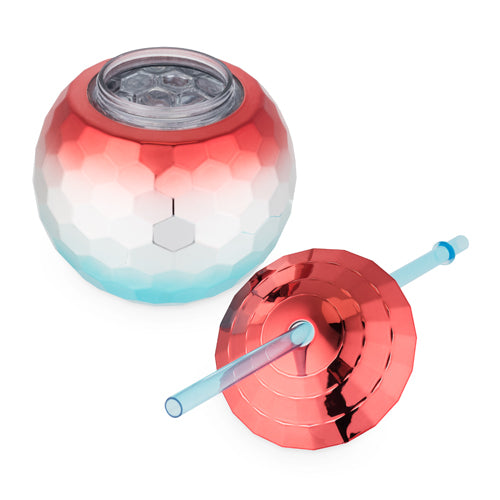 Red-White-Blue Disco Ball Tumbler