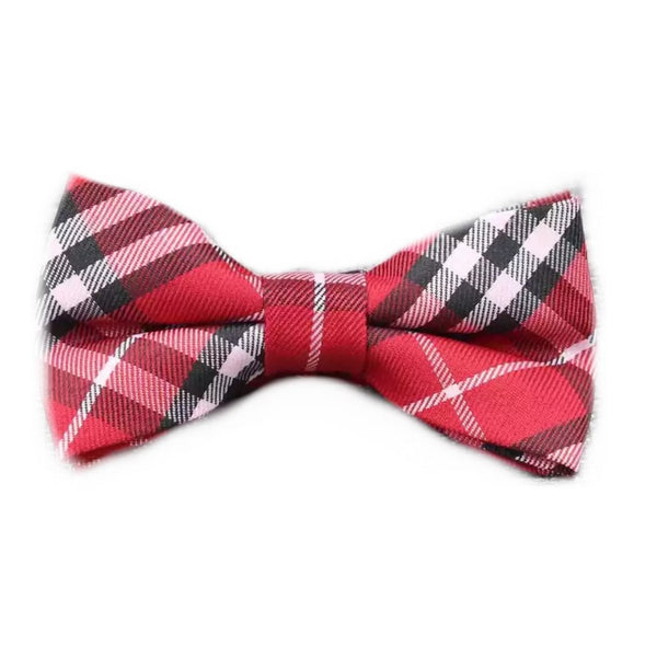 Kids Red Plaid Bowtie (6 Months - 12 Years)