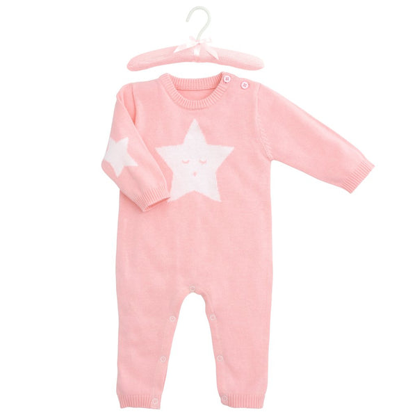 Star Jumpsuit Pink
