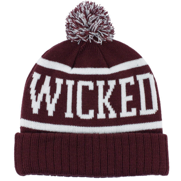 Wicked Smaaht Old School Knit Winter Hat