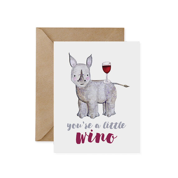 Little Wino Card