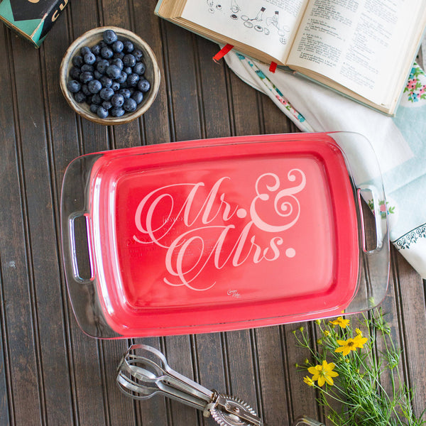 9''x13'' Mr. & Mrs. Baking Dish
