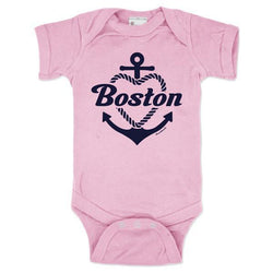 Boston Anchor Pink Onesie