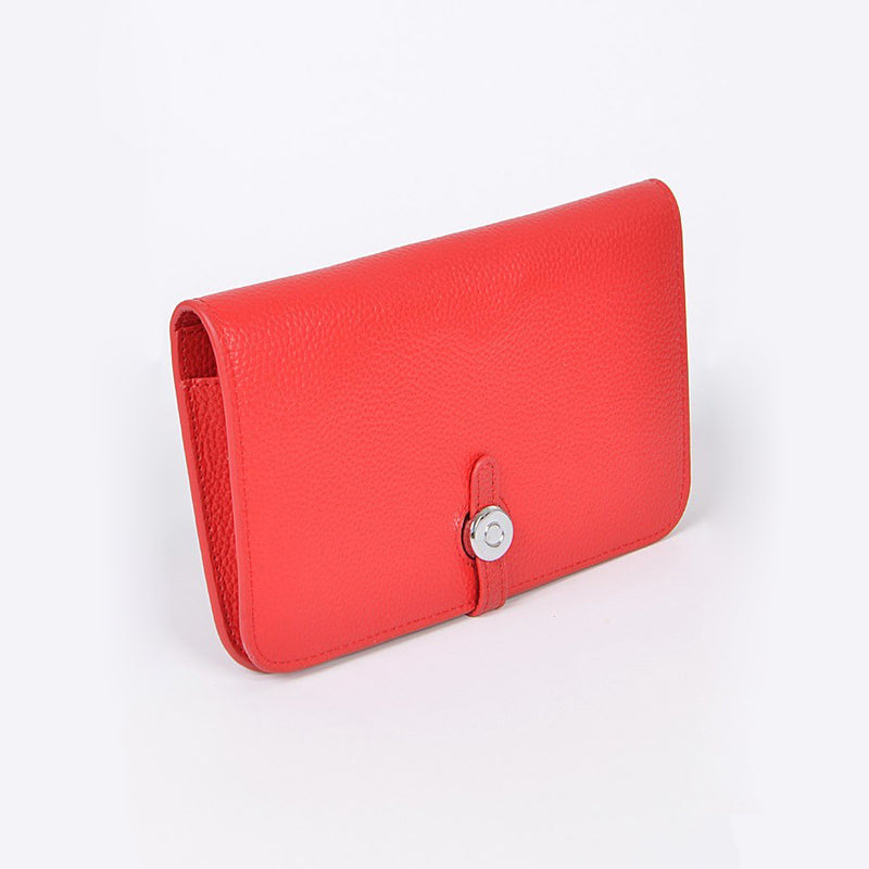 Red Real Leather Wallet
