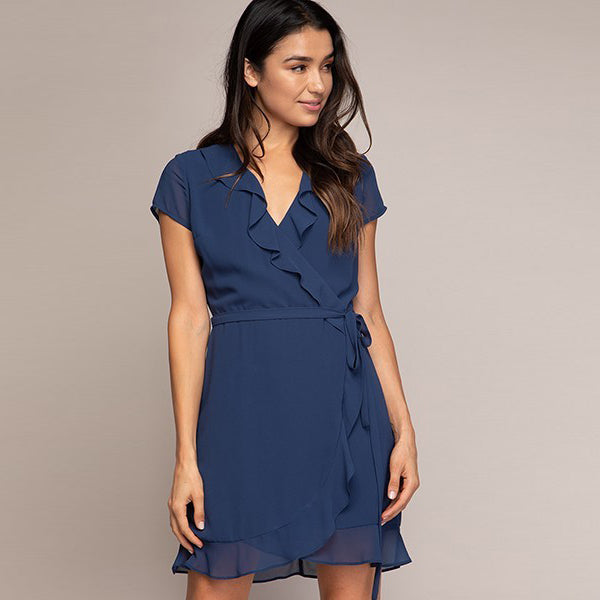 Poseidon Ruffle Wrap Dress