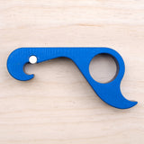 Blue GrabOpener.  Imprintable with your logo and perfect as a promotional gift.